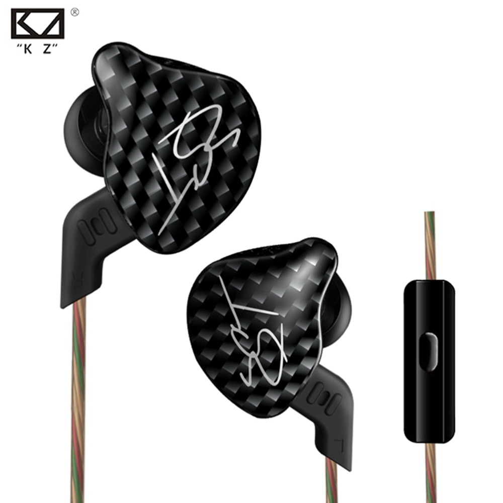 Original KZ ZST Balanced Armature With Dynamic In Ear Earphone Noise Cancelling Headset HIFI Bass Earbud With Mic fone de ouvido