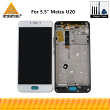 """Tested 5.5"""" For Meizu U20 Axisinternational LCD Screen Display+Touch Panel Digitizer With Frame For Meizu U20 Display"""