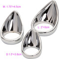 Metal Tears Cock Ring Tongue Shape Penis Ring dildo Cage cock Sex Toys for Men 50mm 1pc