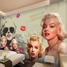 Custom Fashion Woman Photo Wallpaper European-style Picture Of Marilyn Monroe Wall Papers Study Room Sofa Background Home Decor(China)