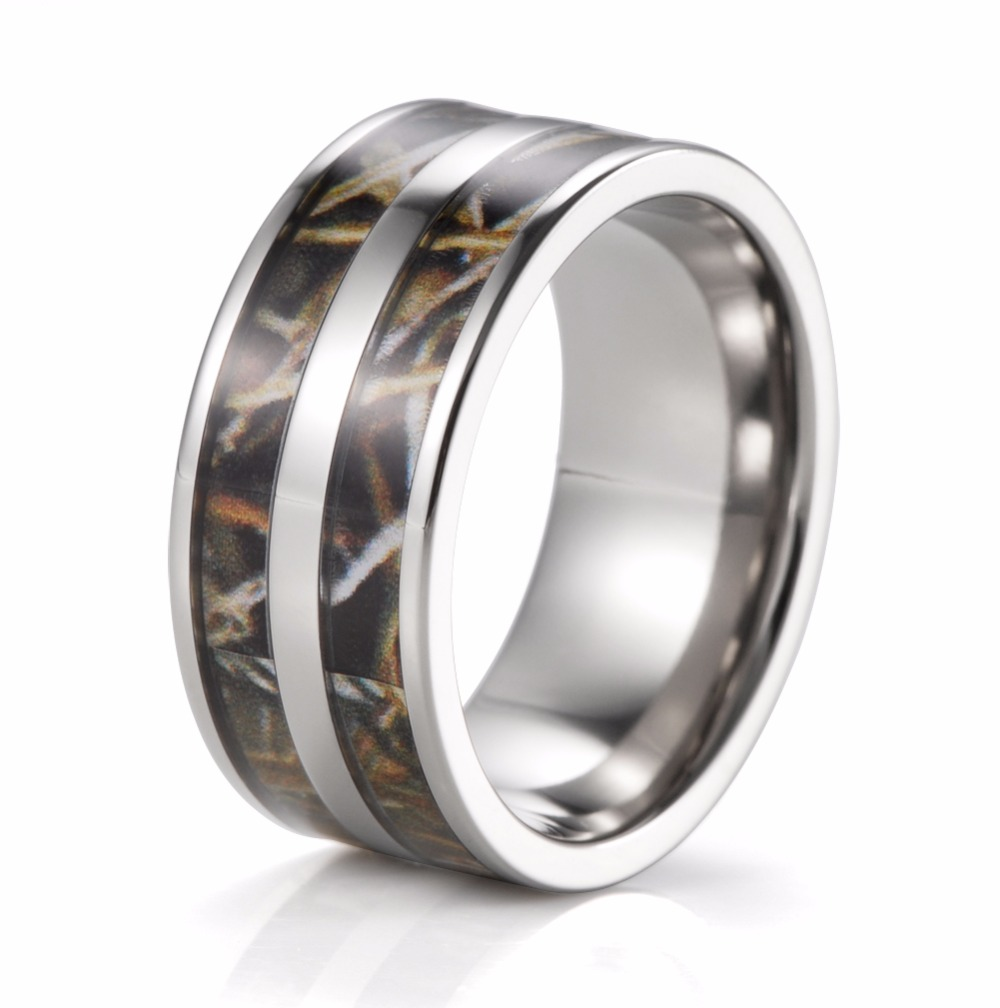 Mens 9mm Titanium Double Realtree Max 4 Camo Engagement Ring Wedding Bandchina: Inexpensive Wedding Bands For Men Duck At Reisefeber.org