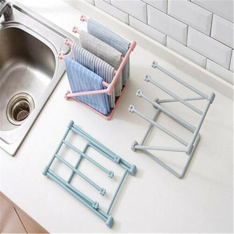 Foldable Vertical Rag Mug Rack Holder Cup Storage Stand Kitchen Organizer