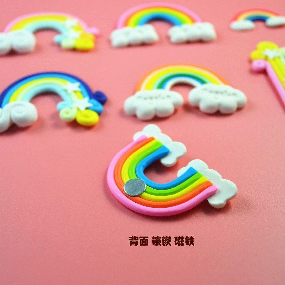 3 шт/комплект мультфильм детские игрушки Радуга Iris сувенирные магниты на холодильник магнитная Стикеры игра устанавливается для детей