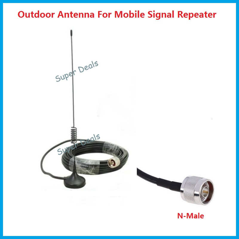 <font><b>Cell</b></font> <font><b>Phone</b></font> Signal Booster antenna 2G 3G 4G Repeater Antenna N male with 10m <font><b>cable</b></font> for CDMA GSM WCDMA 3G signal amplifiers
