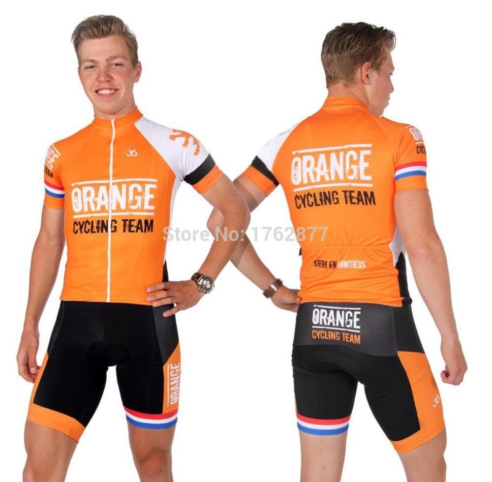 ab9ffd728 2015 Roompot Orange Cycling jersey bib shorts kits good Quality short  sleeve ropa ciclismo MTB bike wear short (bib) suit men-in Cycling Jerseys  from Sports ...