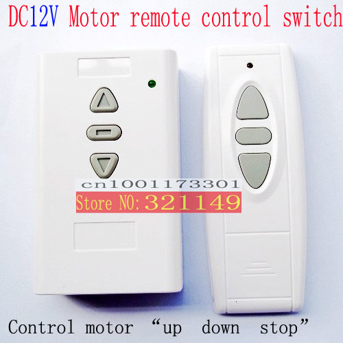 dc12v motor reversing wireless remote control switch dc12vmotor up and down wirless remote. Black Bedroom Furniture Sets. Home Design Ideas