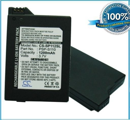 Battery For SONY Lite PSP 2th PSP 2000 PSP 3000 PSP 3004 Silm P N PSP