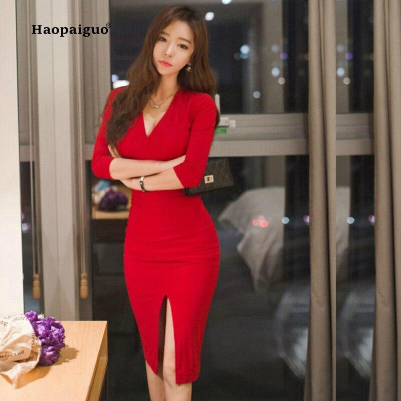 plus size midi women dress bandage office party sexy bodycon black red vintage dress. Black Bedroom Furniture Sets. Home Design Ideas