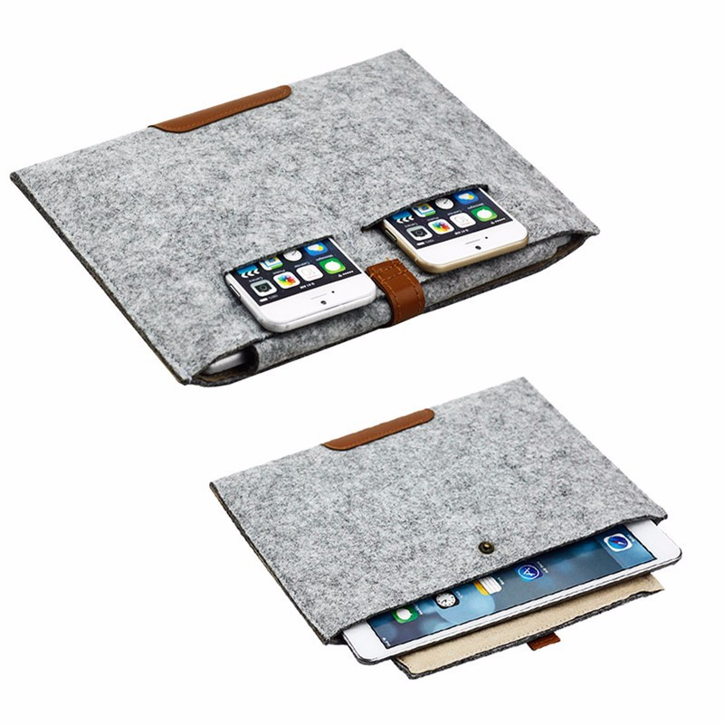 10 Inch Universal Felt Tablet Sleeve Bag Case For Ipad Air/Air 2 For Ipad Pro 9.7 Soft Sleeve Pouch Bag For 9.7 Inch Tablet PC