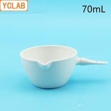YCLAB 70 мл керамическое Испаряющее блюдо с ручкой керамическая фарфоровая посуда Earthen лабораторное химическое оборудование