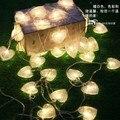 Multi-cor 10 m 80 Corações Faixa Garland Para O Casamento Do Feriado Do Natal Luz LED String Partido Home Decoração do Quarto 110 V/220 V