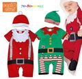 New 2016 Baby Boys Christmas Clothing Sets Romper Cap Short Sleeve 2 Piece Suits Kids New Born Infant Clothes Children's Wear