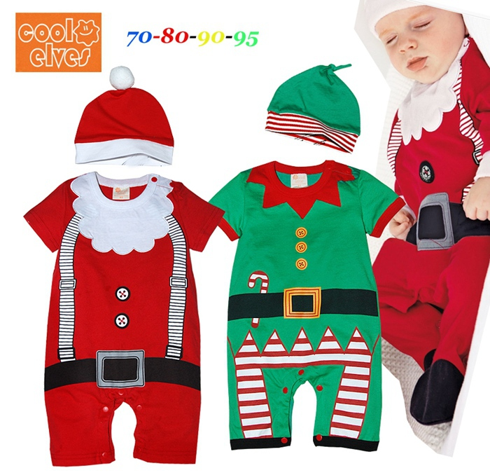 New 2017 Baby Boys Christmas Clothing Sets Romper Cap Short Sleeve 2 Piece Suits Kids New Born Infant Clothes Children's Wear baby clothing summer infant newborn baby romper short sleeve girl boys jumpsuit new born baby clothes