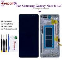 Super Amoled для samsung Galaxy Note 8 N9500 N950FD N950U ЖК дисплей с сенсорным экраном дигитайзер + рамка 6,3 для samsung Note 8 ЖК дисплей