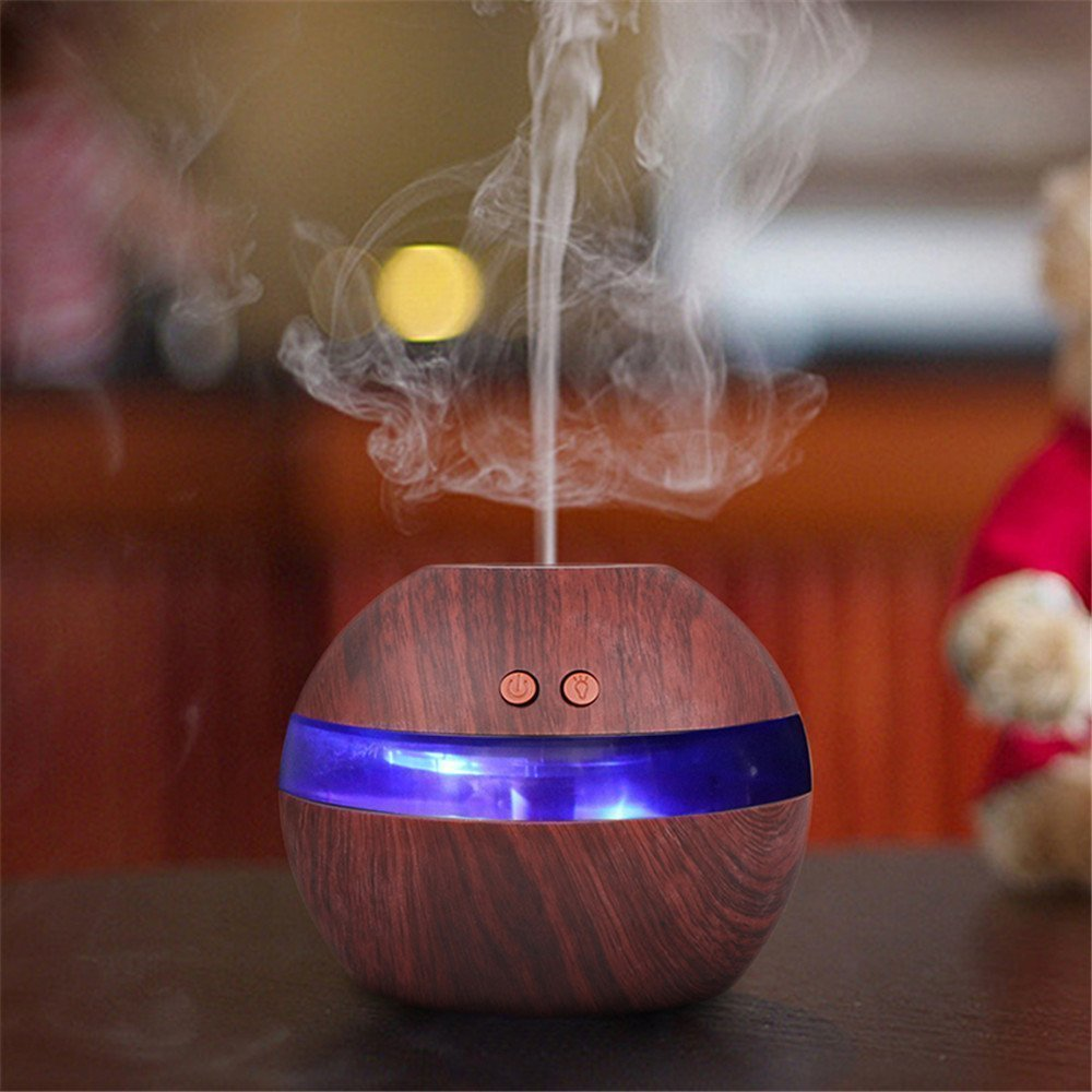 Aroma Essential Oil Diffuser Mist Humidifier 300ml USB Cool Ultrasonic Aromatherapy Air Purifier with LED Light for Office Home 300ml humidifiers essential oil diffuser for aromatherapy premium cool mist aroma humidifier with changing colored led lights
