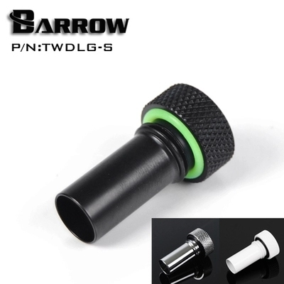 Barrow Black / Silver / White External flow direction fittingLong (50mm)( 20mm) Water cooling fitting TWDLG-S TWDLG-L