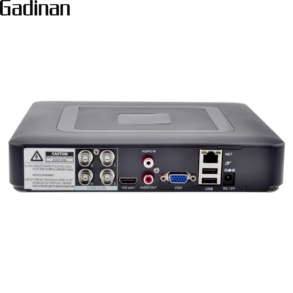 GADINAN 4CH 1080N AHD DVR NVR recorder H.264 P2P CCTV 5 In 1 for AHDH AHDNH AHD-M 960H D1 Camera Hybrid 2 Analog 720P+2 IP 720P hiseeu 8ch 960p dvr video recorder for ahd camera analog camera ip camera p2p nvr cctv system dvr h 264 vga hdmi dropshipping 43