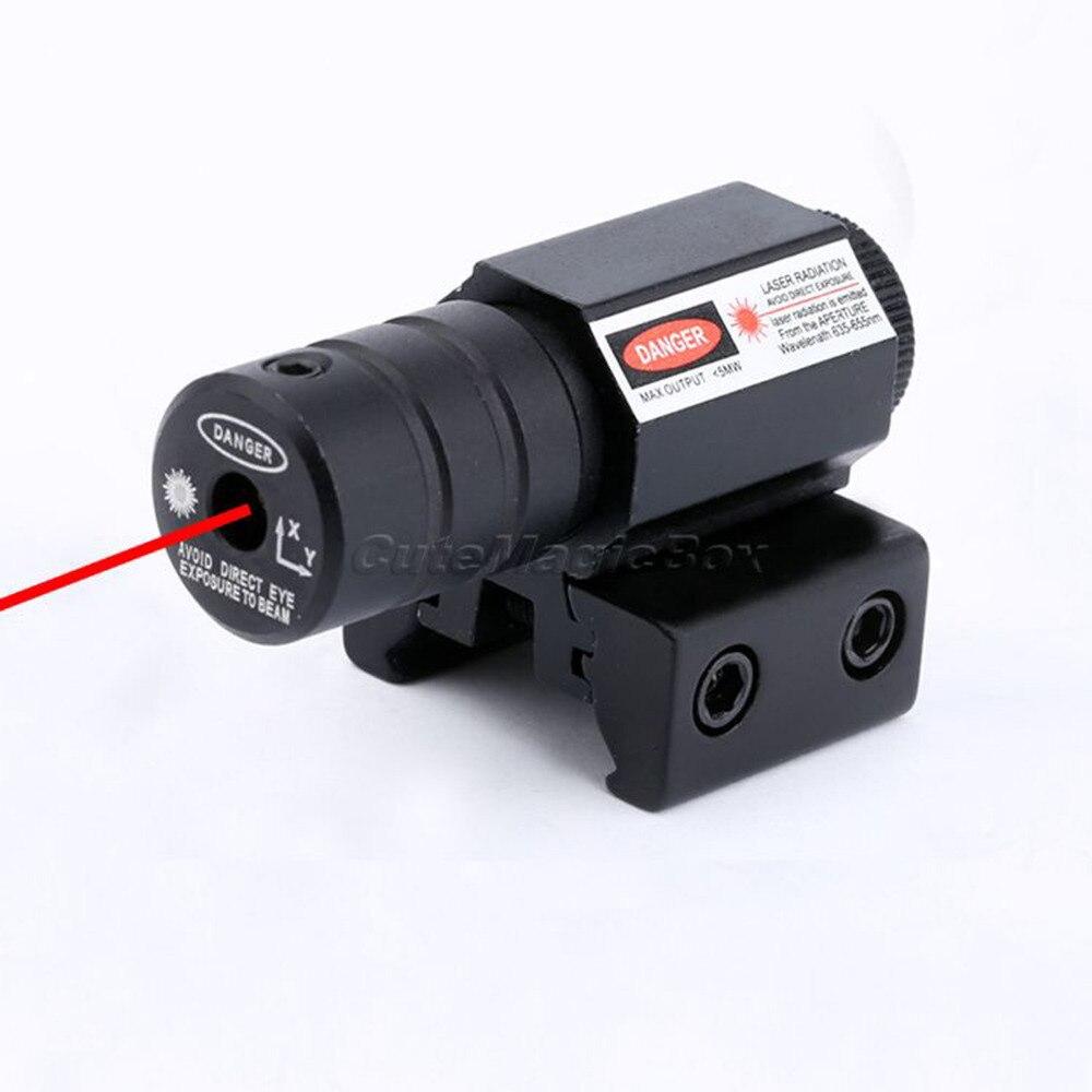 Цена за Тактический 5 МВт 635nm ~ 655nm Ярко Красный Луч Dot Лазерный Прицел область для Gun Стрелковой Пистолета 20 мм Уивер Пикатинни Крепления НОВЫЙ