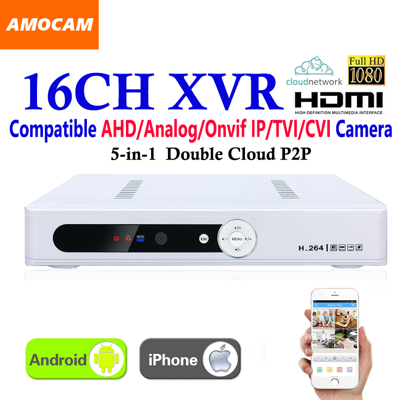 New CCTV 16Channel XVR Video Recorder All HD 1080P 8CH Super DVR Recording 5-in-1 support AHD/Analog/Onvif IP/TVI/CVI Camera 4ch 8ch 8 4 channels full hd real 2mp 1080p ahd h ahd tvi cvi dvr avr tvr xvr cvr cctv camera analog video recorder recording