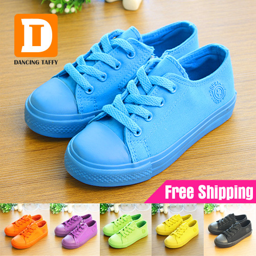 New 2015 Children Boots Boys Canvas Shoes Gold Gir...