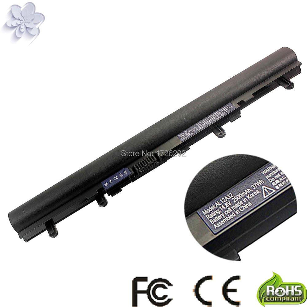 Laptop battery for ACER Aspire V5 V5-171 V5-431 V5-471 V5-531 V5-571 Series AL12A32 AL12A72 цена