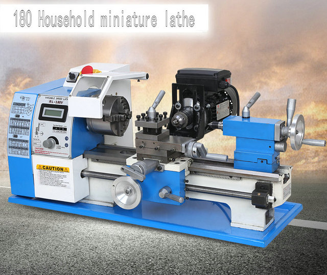 600W multifunction home mini lathe, machine beads, metal / wood turning, digital, DIY processing machinery and equipment