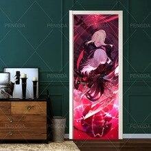 Door-Stickers Japanese Mural Paper Self-Adhesive Renew Bedroom Home-Decor Print Waterproof