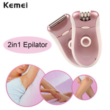 2 in 1 110-220V Electric Rechargeable Women Epilator Beard Shaver Depilador For Face Body Arm Leg Bikini Underarm EEBT09 47 Z