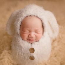 Baby Soft Sleeping Bag Hat Set Boys Girls Photo Shooting Clothes Newborn Photography Props Crochet Infant Outfits Photo Props crochet newborn baby photography clothes set