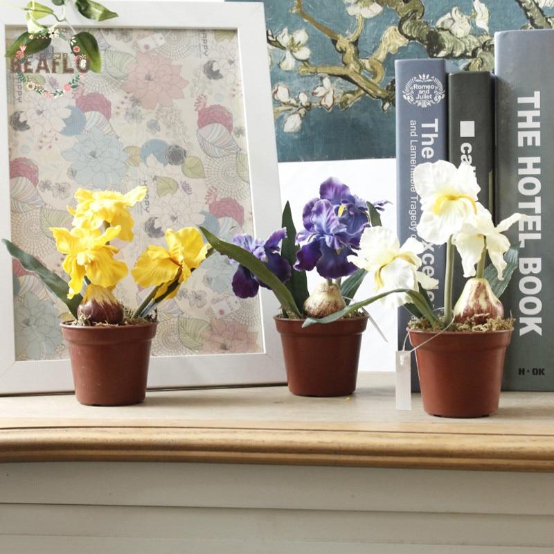 3 צבעים 1 מיני מיני מלאכותית פרח איריס - חגים ומסיבות