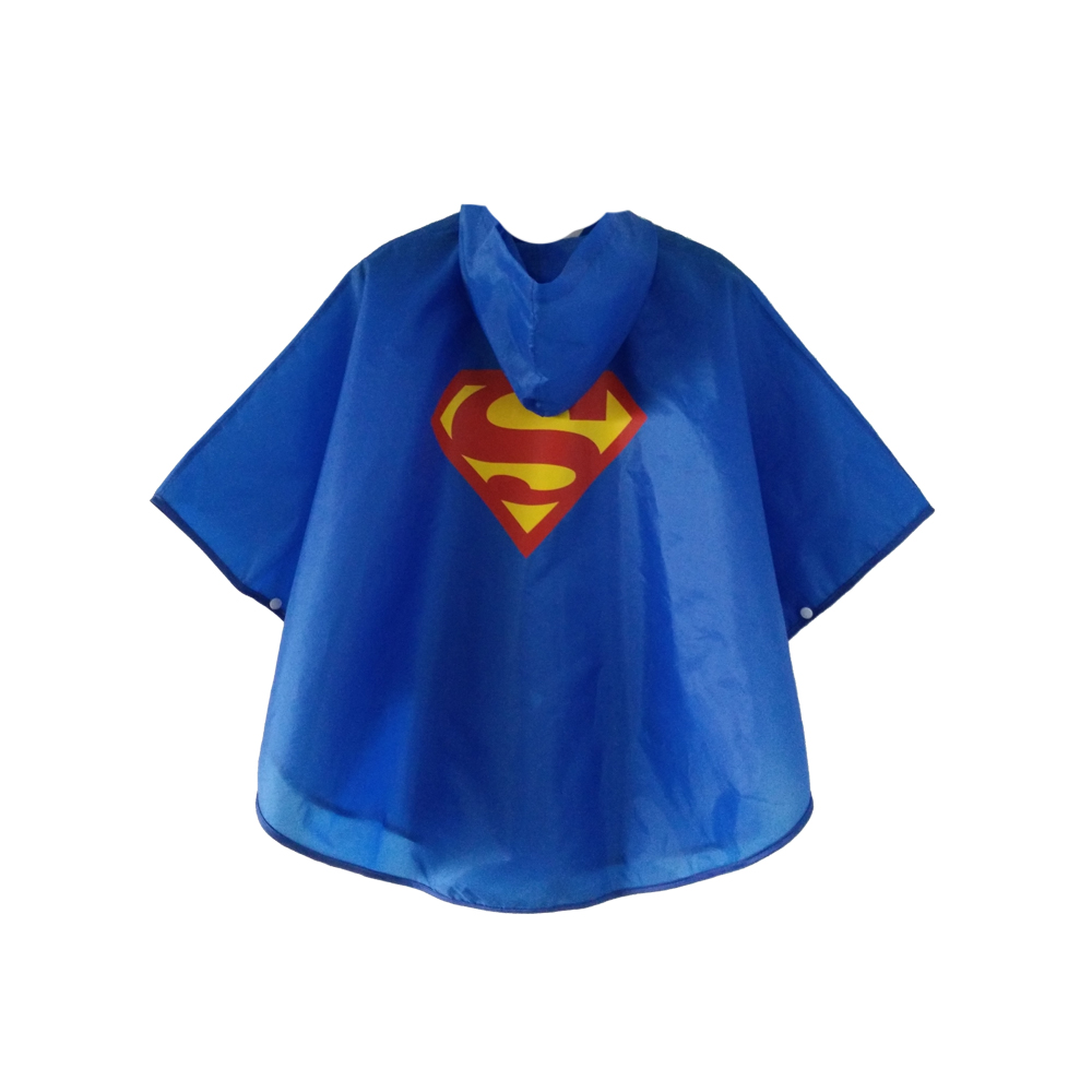 Magiczone 7 Styles Superhero Raincoat Boys Girls Waterproof Child Gift Raincoat Kids Clothes Cosplay Suit 1pc/pack Free Shipping
