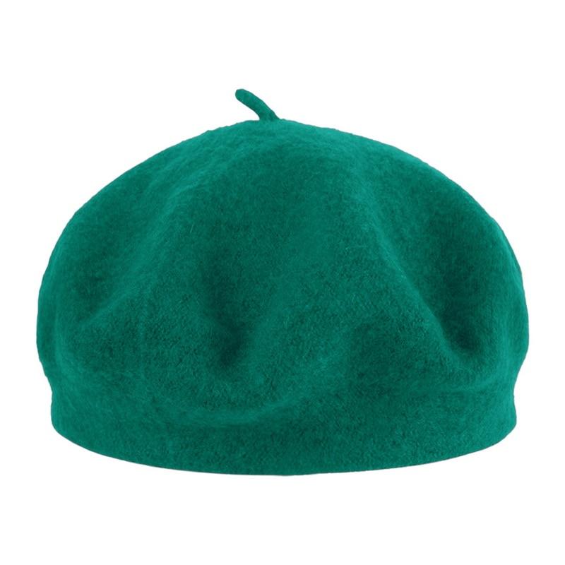 Kompetent Heißer Verkauf Neue Wolle Einfarbig Baskenmütze Hut Frauen Winter Weiblichen Haube Caps Alle Abgestimmt Vintage Warm Wandern Hut Kappe 2018 Mode