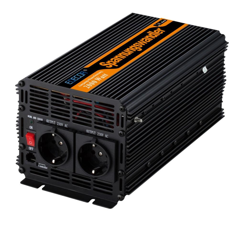 2000w off grid modified sine wave power Inverter DC 24v to AC 220v 230V converter 4000w