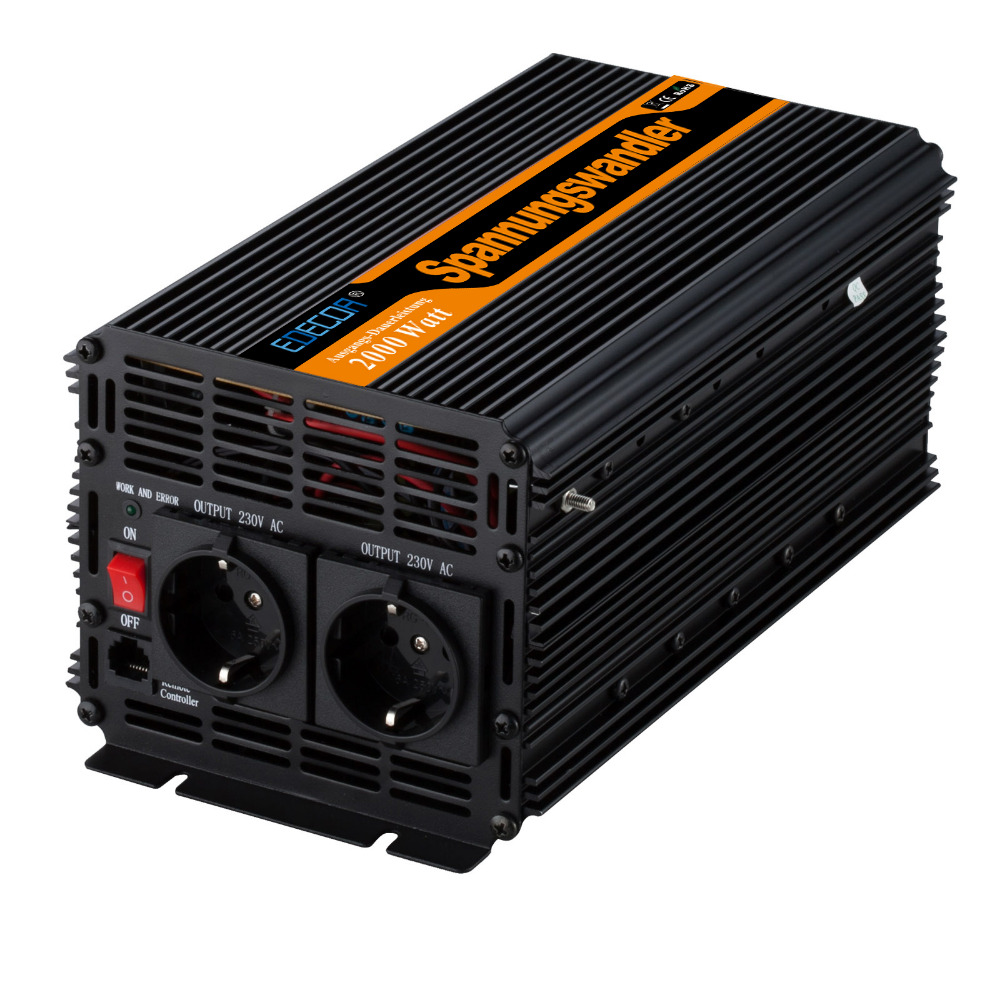 2000w off grid modified sine wave power Inverter DC 24v to AC 220v 230V converter 4000w peak-in Inverters & Converters from Home Improvement    1
