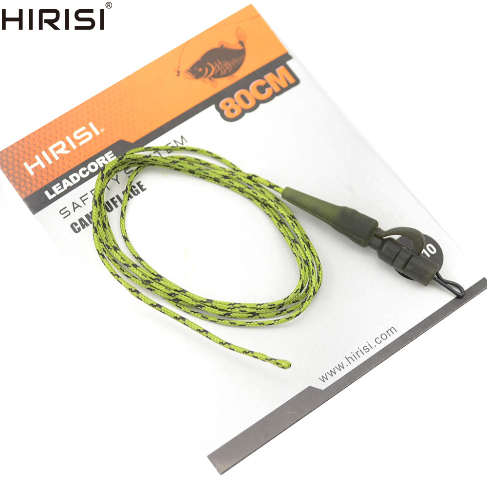 4 X Hirisi Carp Fishing Leadcore Fishing Line PE Braided Line With Lead Clip Quick Change Swivel Length 80cm