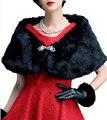DK Nupcial de Moda de Nova Preto/Branco/Roxo/Café Faux Fur Wraps Para O Partido Do Inverno Capa De Pele Para casamentos