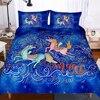 Fanaijia unicorn מצעים סט luxuy 3d פרח unicorn Cartoon ילדים שמיכה כיסוי מיטת סט מצעי תאום מיטת סטים-בסטים של מצעים מתוך בית וגן באתר