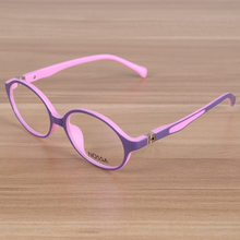 bfaf9e55b2 Kids Eyeglasses Children Flexible TR90 Plain Glasses Frame Optical  Prescription Eyewear Frames Girls Boys Pink Round Glasses