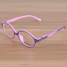 Kids Eyeglasses Children Flexible TR90 Plain Glasses Frame Optical Prescription Eyewear Frames Girls Boys Pink Round Glasses