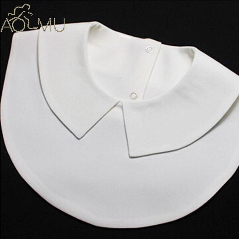 AOMU 2017 Fake Collar White & Black Tie Vintage Detachable Collar False Collar Lapel Blouse Top Women Clothes Accessories