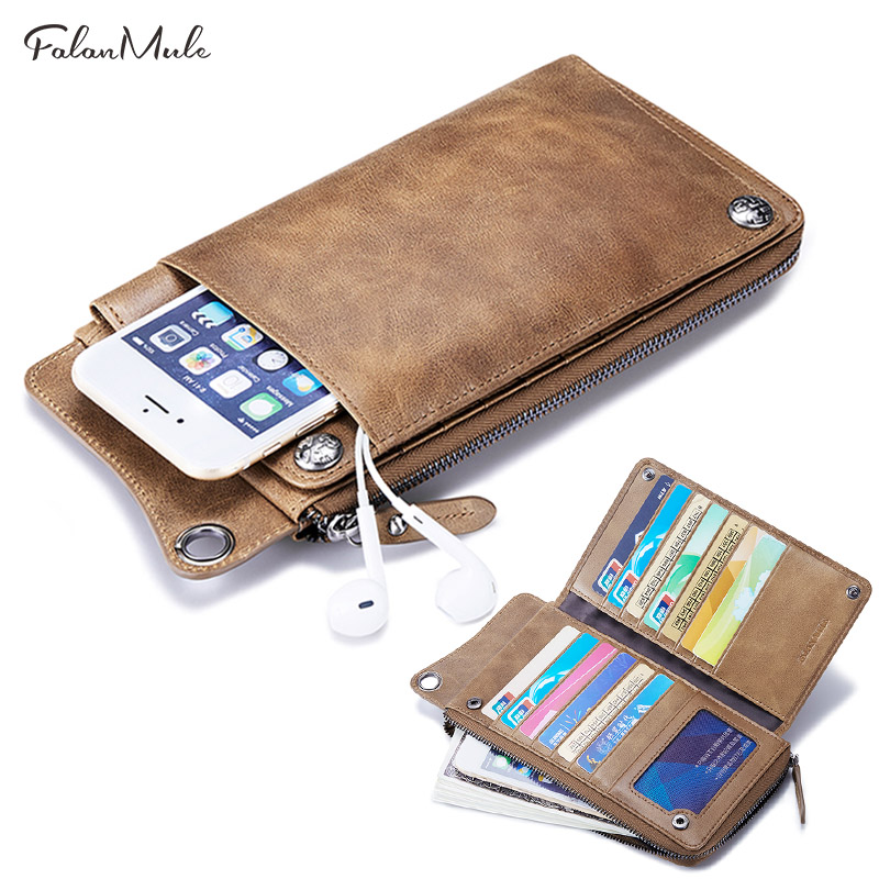 Wallet For Men Genuine Leather Purse Clutch Male Long Men Wallets Zipper Money Bag Coin Purse Wallets Card Holder male carteira new fashion men s wallet men zipper business clutch male money bag carteira brand long purse multifunction coin