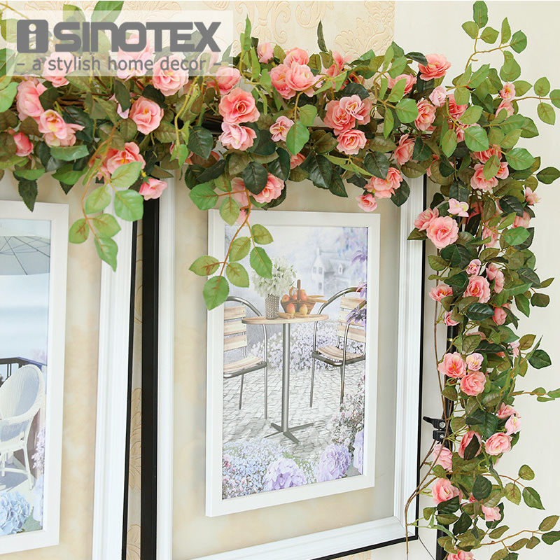170cm Silk Artificial Flowers Rose Fake Flowers Vine Rattan Floral Wedding Decoration Home Accessories Mariage Party Flores