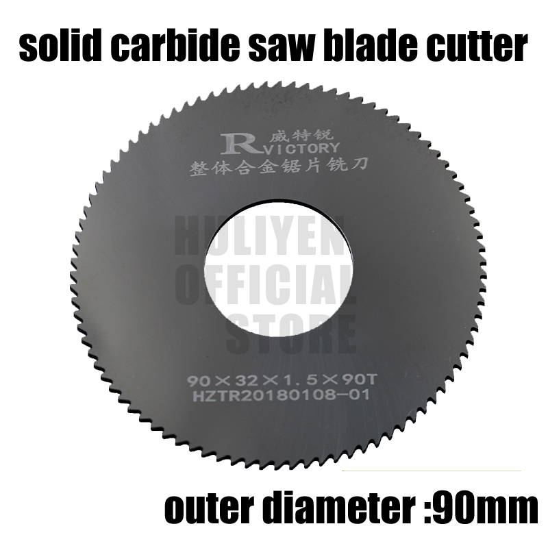 2pcs 90mm out dia circular slitting saw blade cutter 90*2.0 90*2.5 90*3.0 Teeth Tungsten Steel Saw Blade 40mm Milling Cutter new bt50 sca32 90l circular saw blade cnc milling toolholder