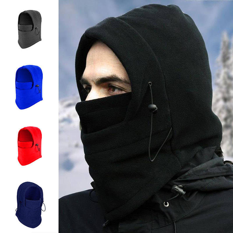 Snowboard Skullies Beanies Hat Hooded-Neckerchief-Cap Cycling Ski-Bike Warm Full-Face-Mask