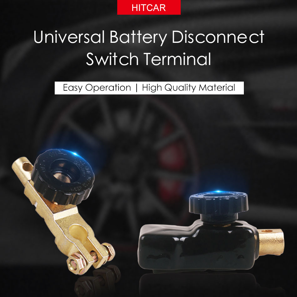 Battery Disconnect Switch Top Mount Knob Cut Off Master Kill Terminal Negative Clamp Clip Adapter forCar Vehicle Truck Boat