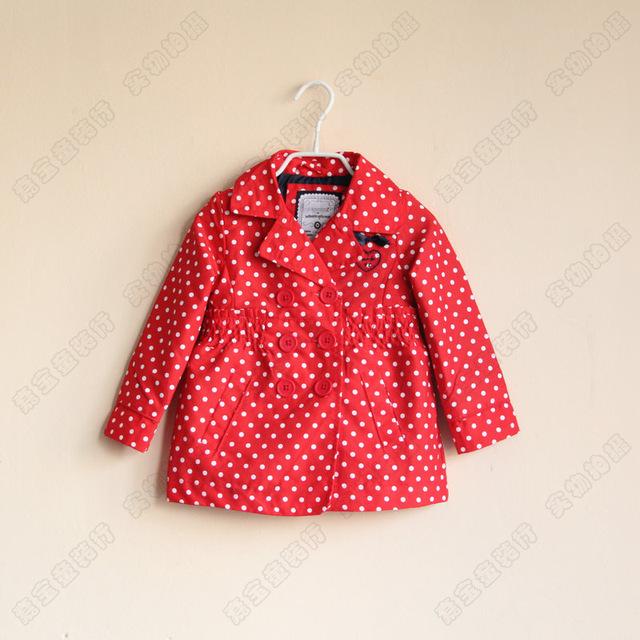 Es la Acción de Los Niños Bebé Niñas Amor punto de la onda de Punto Capa de Polvo de doble botonadura cazadora abrigo rojo azul Al Por Mayor