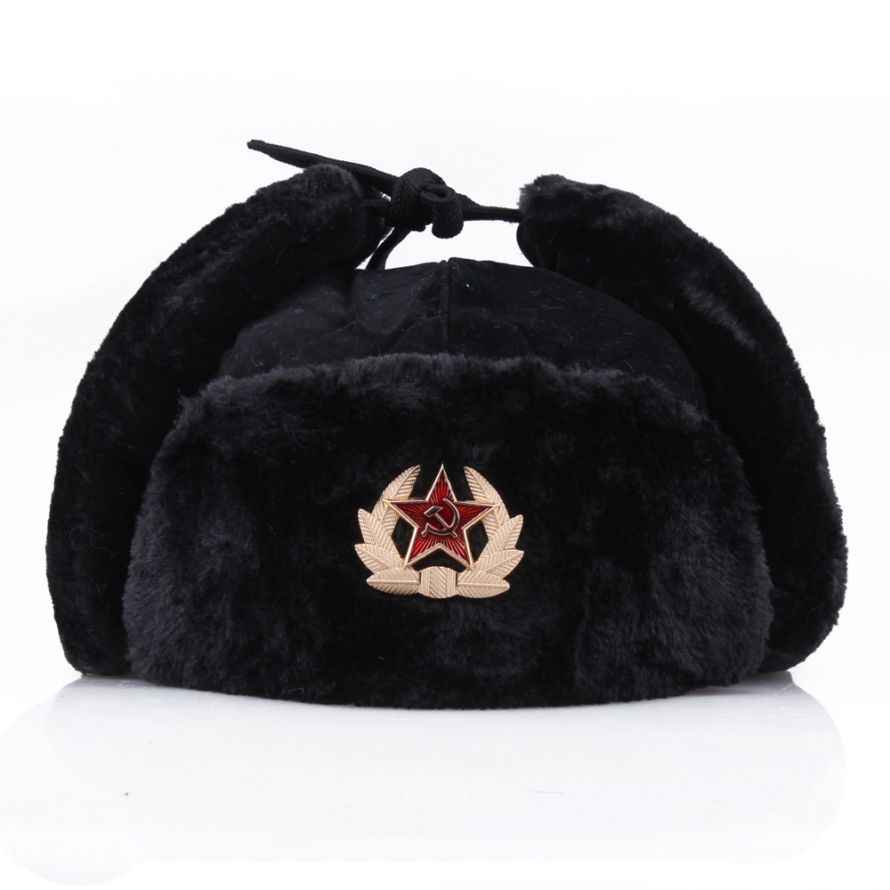 300da0f6195d FANCET Winter Unisex Bomber Hat For Men Adult Pilot Aviator Cap Earflap  Windproof Ushanka Waterproof Trapper Hunting Hat 88115