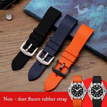 20mm 22mm 24mm Soft Silicone Strap Rubber Watchband Fluorine Glue Black Blue Orange Green WatchBand Bracelet Sport Quick Release