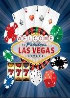 Dados de Poker Casino Las Vegas Bebê Recém-nascido Criança Fotografia Foto Fundo Vinil