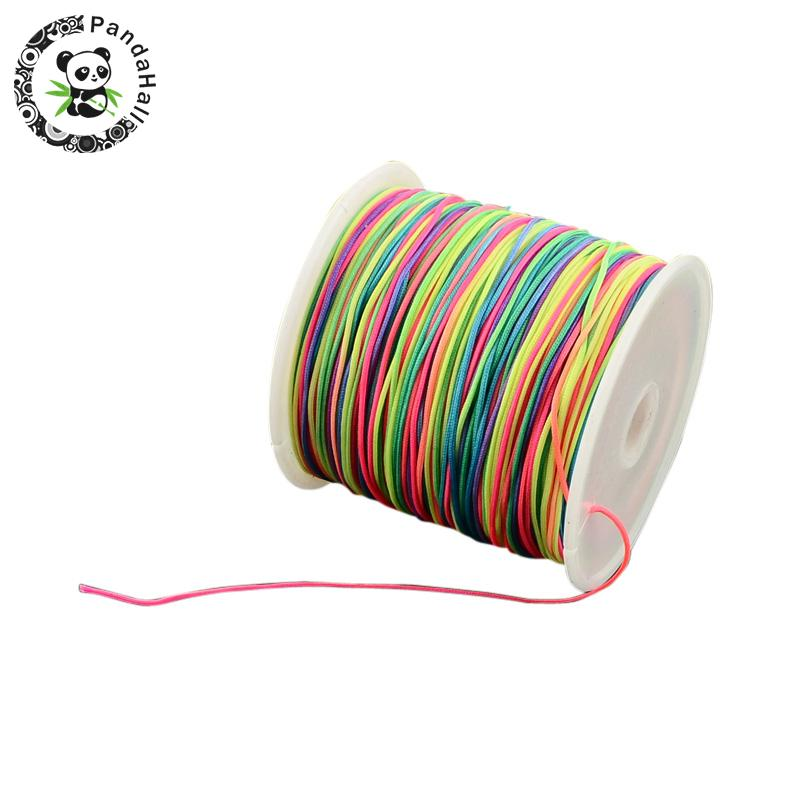 0 5mm 0 8mm Nylon Cord Beading Thread for DIY Bracelets Jewelry Making in Jewelry Findings Components from Jewelry Accessories